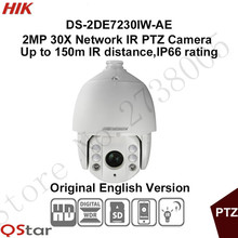 In stock Hikvision English 2MP 30X PTZ DS-2DE7230IW-AE 2MP PTZ IP Security Camera replace DS-2DE7186-AE POE 150m IR CCTV Camera