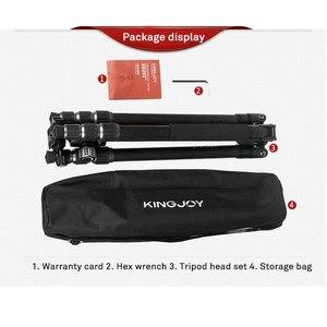 Image 5 - KINGJOY הרשמי G55 מקצועי סיבי פחמן נייד חצובה חדרגל Stand כדור ראש עבור נסיעות DSLR מצלמה צילום