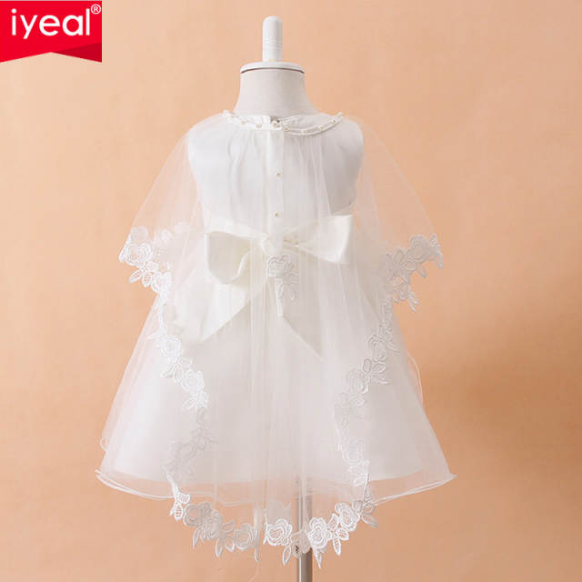 4dbcc368f76 placeholder IYEAL Newborn Baby Christening Gown Infant Girl s White  Princess Lace Baptism Dress Toddler Baby Girl Chiffon