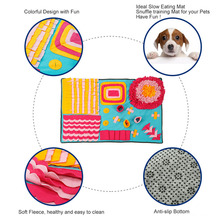 Pet Dog Toys Snuffing Mat Puzzle Training Interactive Toys For Dogs Cat Washable Sniff Find Food Training Sniffing Blanket Pad