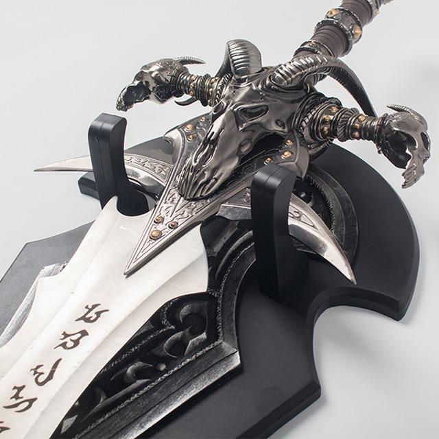 WOW Arthas Menethil sword Frostmourne Alloy casting cool Craft Be a gift Adult toys 108cm/120cm 2.5kg/5kg home decor 4