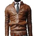 Jacket Men Leather Jacket Collar Men's Faux Leather Autumn Winter Jacket Men soild Leather High Quality warm Coat Men