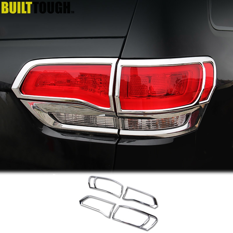 For Jeep Grand Cherokee 2017 2016 2018 2019 Chrome Rear Tail Light Lamp Taillight Trim Cover Car Styling Accessories In Chromium From
