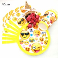 HOT Selling 40pc Set Emoji Theme Cup Plate Napkin Party Supplies Boys Event Christmas Birthday Party
