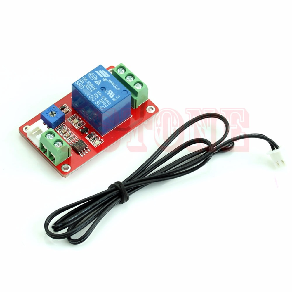 12v Dc 1 Detection Control Switch Channel Thermistor Relay Sensor 3pcs Delay Timer Module Turn On Off Temperature