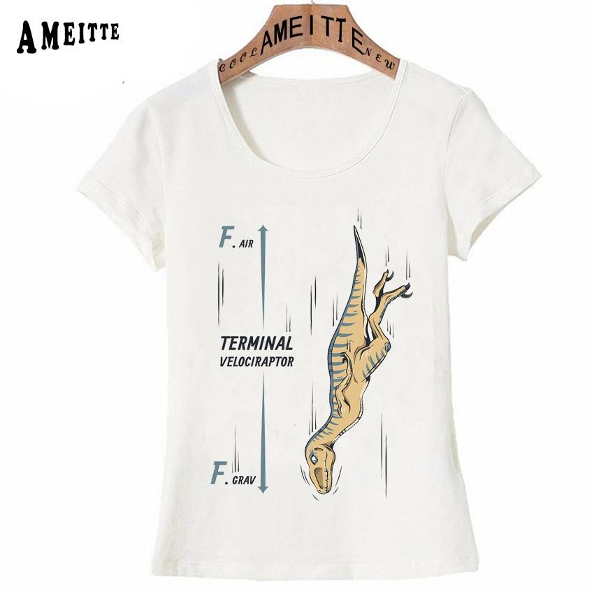 9212eb83a2870d New Summer Fashion Women T-shirt Funny Velociraptor Dinosaur Print T-Shirt  Woman Casual