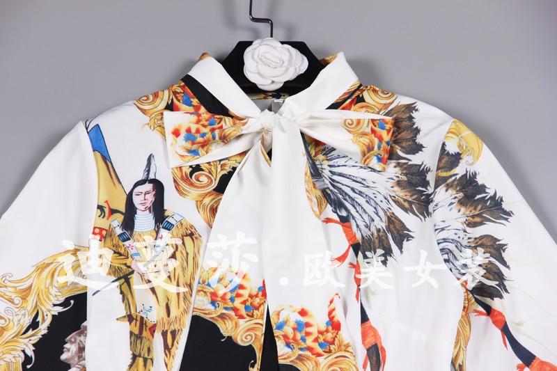Palais Noeud Chart Robe See Ruban 2019 Col Plissée Rétro Et Papillon Nouveau Imprimé Longueur Printemps Moyen Totem xaXqc18