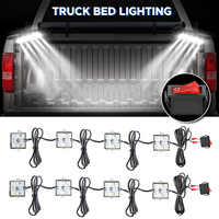 48LED 12V DC 8W Truck Bed/Rear Work Box Lighting Kit Trunk Light For All Pick up White