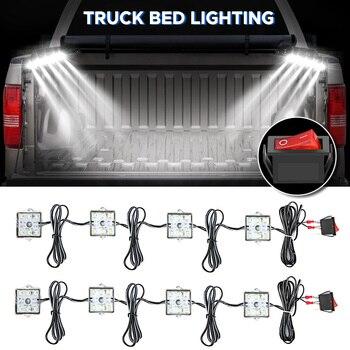 48LED 12V DC 8W Truck Bed/Rear Work Box Lighting Kit Trunk Light For All Pick up White