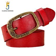 Ladies Fashionable High-grade Fashion 100% Cowhide Genuine Brand Strap Leather Belts for Women FBFAJA0116