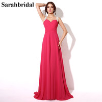 In Stock Sexy Backless Fuchsia Prom Dresses 2015 Special Occasion Dresses Party Gown Chiffon Sweetheart Real