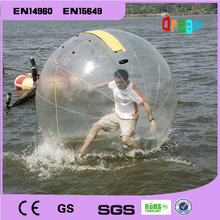 Free shipping!0.8mm Thickness PVC 2m Diameter Transparent  Inflatable  Water Walking Wall/Water Ball/Zorb Ball