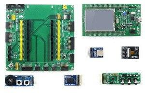 STM32 Board STM32 Discovery Kit STM32F429I-DISCO +Mother Board +7 Modules STM32F429I STM32 Cortex-M4 Development Board