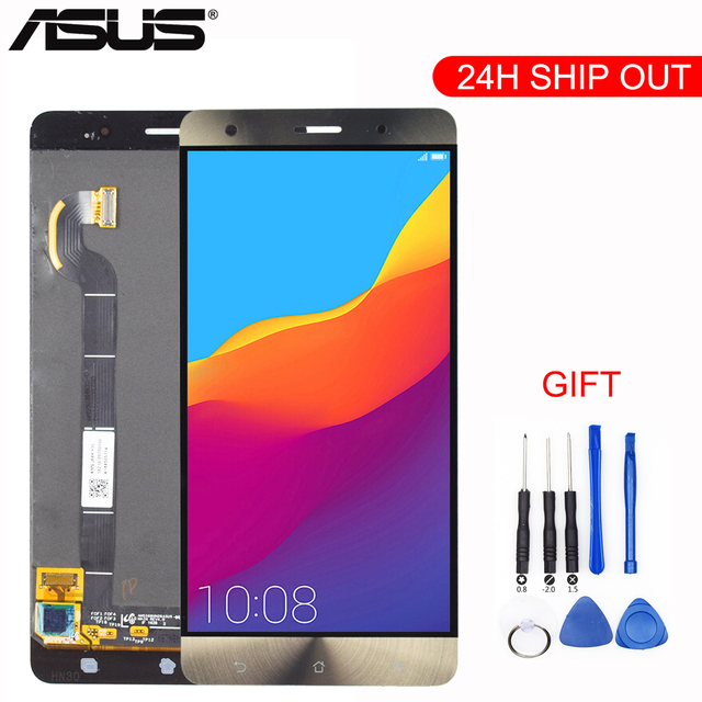 """New 5.7"""" Gold For Asus Zenfone 3 Deluxe ZS570KL LCD DIsplay + Touch Screen Panel Digitizer Assembly Replacement + Tools"""
