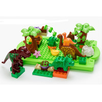 Dinosaur Park Jurassic World Dinosaur Large Particle Building Blocks Baby Toys Animal Set Brick Compatible With
