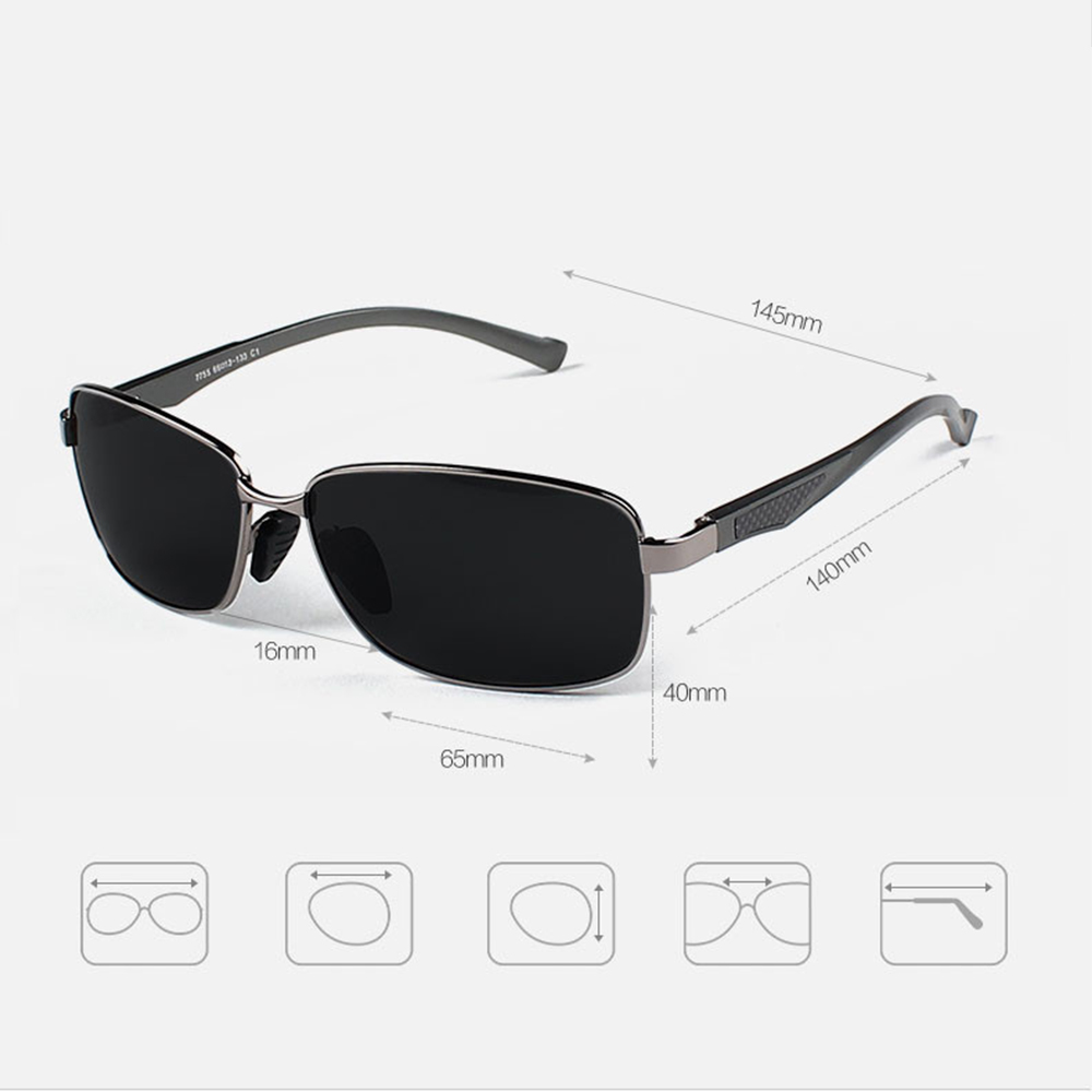 Aluminum Magnesium Alloy Men Sunglasses Polarized Lens Driver Mirror Sun Glasses Male Eyewears oculos de sol masculino RE7755