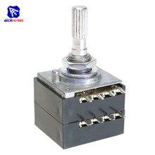 Поворотный Потенциометр 100K LOG ALPS RH2702 аудио регулятор громкости горшок стерео W громкость L