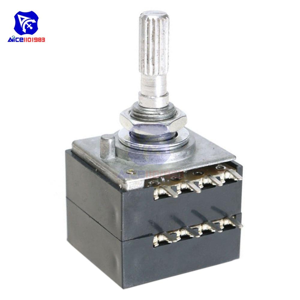 Potentiomètre rotatif 100 K LOG alpes RH2702 Pot de contrôle de Volume Audio stéréo W Volume L
