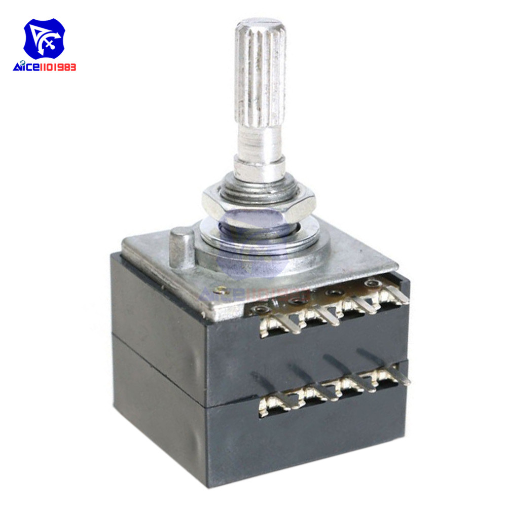 Rotary Potentiometer 100K LOG ALPS RH2702 Audio Volume Control Pot Stereo W Loudness L