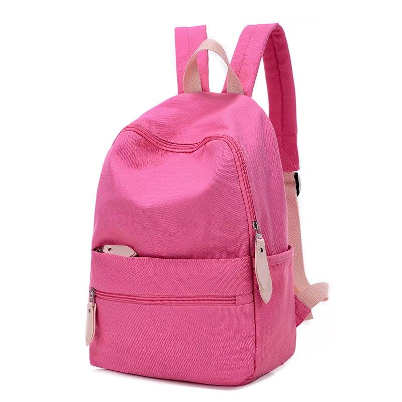 Korean Nylon Student font b Backpack b font Fashion Women School font b Backpacks b font