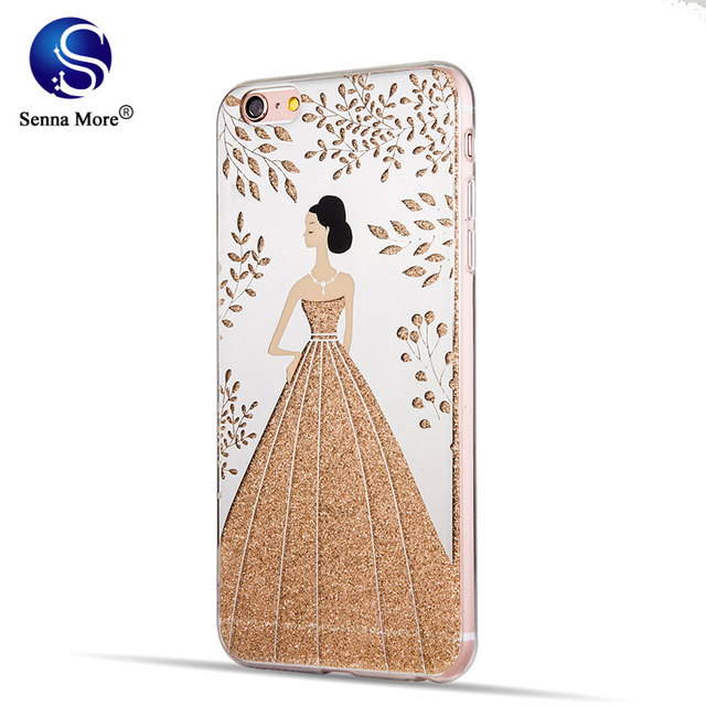 Sm Wedding Dress Case For Iphone 6 6plus 6s Plus 7plus Ultra Thin Back Cover
