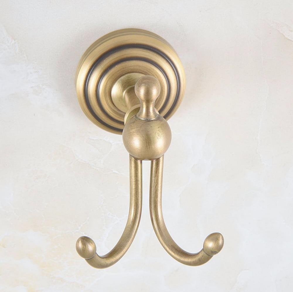 Настенный установленный винтаж ретро антиквариат латунь ванная полотенце пальто крючки двойной халат крючок вешалка ванная аксессуары mba728