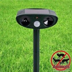 Movimento posto solar ativado animais ultra-sônicos cães gatos repeller assustar animais 511 para jardinagem ao ar livre