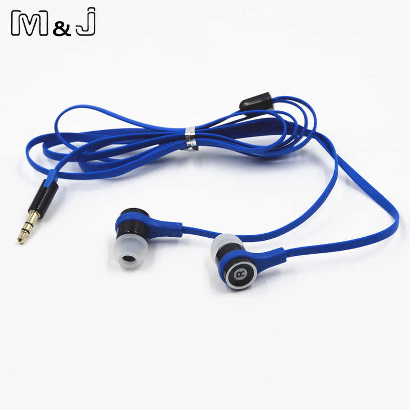 M & J JM21 Asli Stereo Earphone Colorful Merek Earbud Headset untuk - Audio dan video portabel - Foto 4