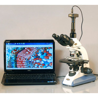 Doctor Veterinary Biological Microscope AmScope Supplies 40X 1600X Doctor Veterinary Trinocular Biological Compound Microscope