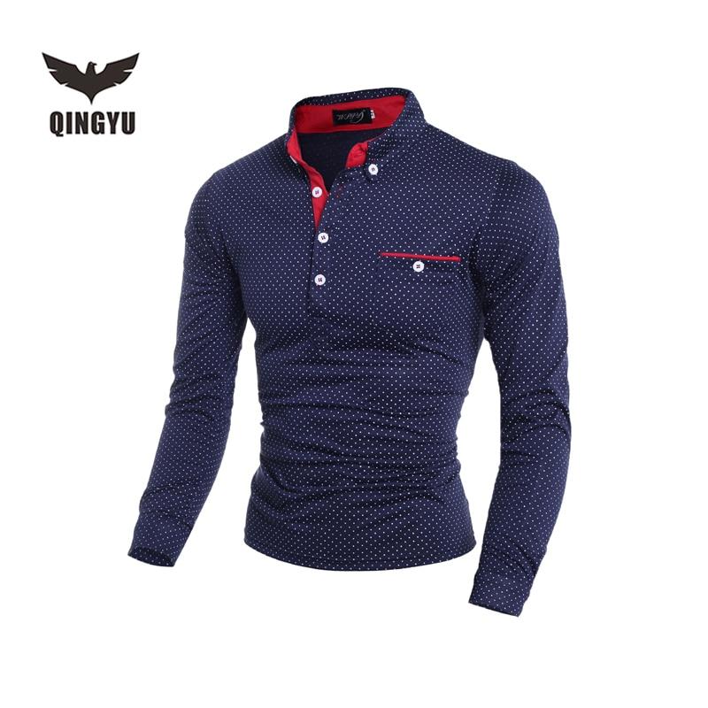 가을 새로운 2018 캐주얼 패션 브랜드 비즈니스 셔츠 - 남성 의류