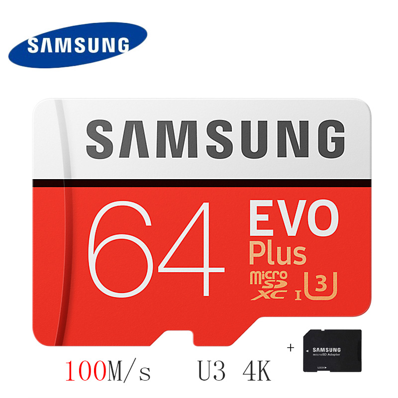 SAMSUNG Micro SD Card 16gb 32gb 64gb 128gb 256gb 100Mb/s Flash Memory Card TF Card with Mini SDHC SDXC Class10 U3 Free Adapter mixza second generation memory card 128gb 64gb 32gb 16gb 8gb micro sd card class10 flash card for tablet smart phone camera