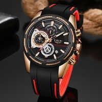 2019New LIGE Silikon Strap Männer Uhren Mode Top Marke luxus Business Leuchtende Quarzuhr Männer Casual Wasserdicht Datum Uhr