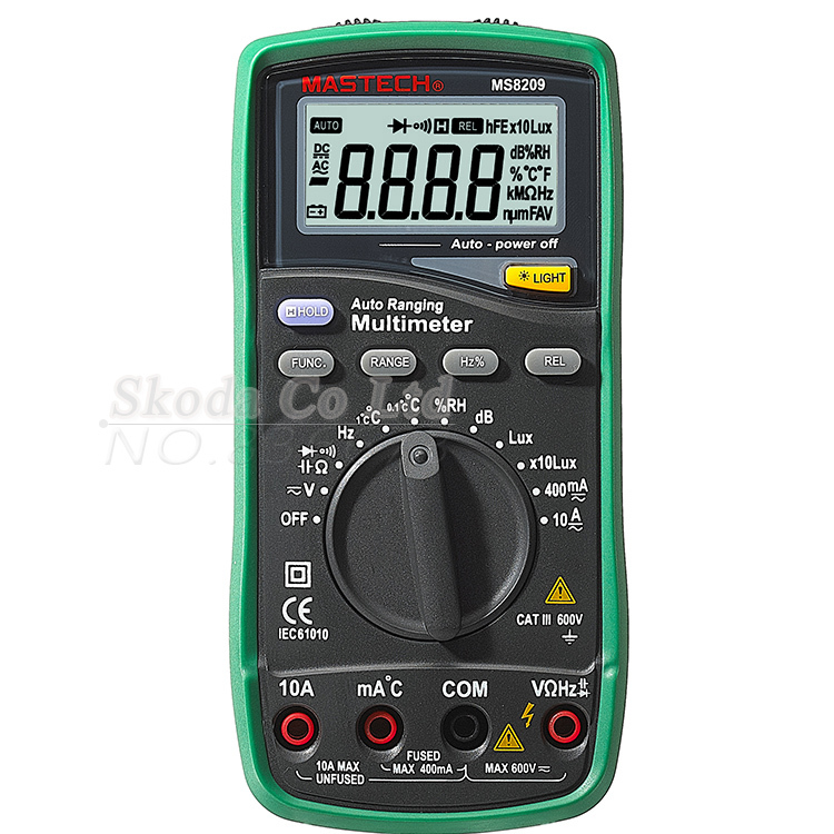 Electronic Tester Showing Failure Lights : Mastech ms auto range digital display multimeter in