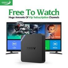 T95N Android 6.0 Smart TV de la Caja IPTV 1 Año QHDTV Código suscripción Italia Europa Francés Árabe IPTV Canales de Medios Jugador Top Box