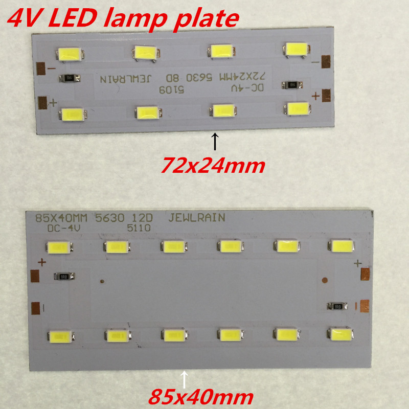 5pcs <font><b>4V</b></font> <font><b>LED</b></font> 5630 absorb dome light transform light board Avoid driving power supply 85x40mm or 72X24mm lamp plate image