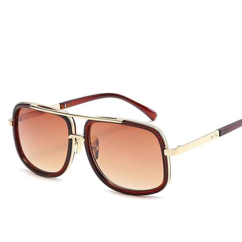 be6f408c3c112 2019 de Design Da Marca Homens Óculos De Sol Do Vintage Duplo Ponte Espelho  de Condução Masculino Óculos De Sol Mulheres Homens Óculos de Sol Óculos de  ...