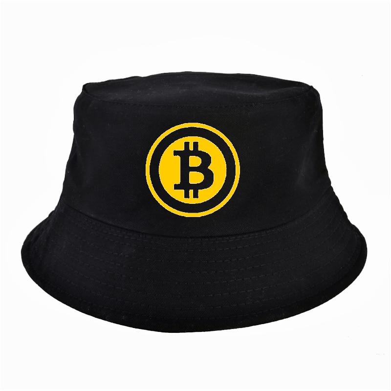 hot BitCoin Men Women Bucket hats fashion Summer Unisex outdoor Hunting fishing Fisherman Bob cap