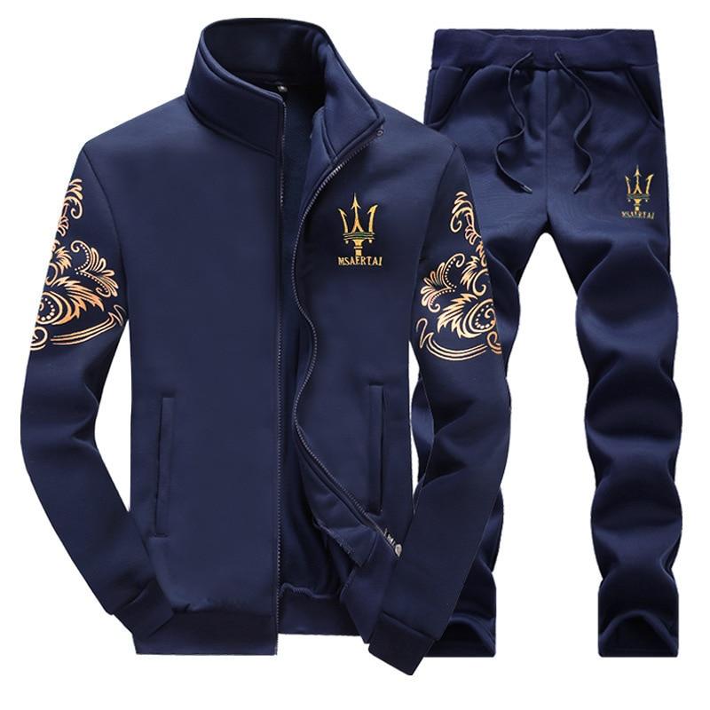 3e3fb714b Comprar Terno Camisola + Calças de Moletom masculina Primavera Outono  Sporting FDWERYNH 2 peças de Roupas