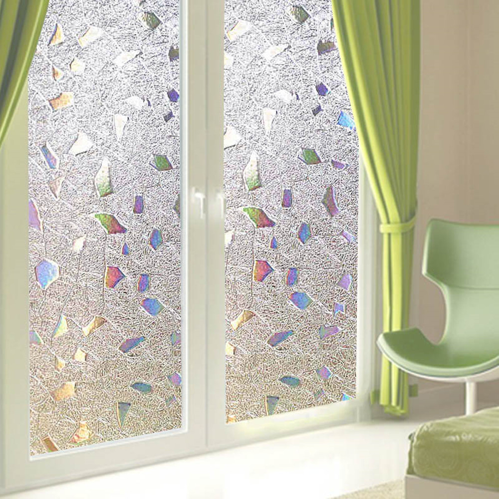 3d Pvc Opaque Privacy Static Sliding Door Window Sun