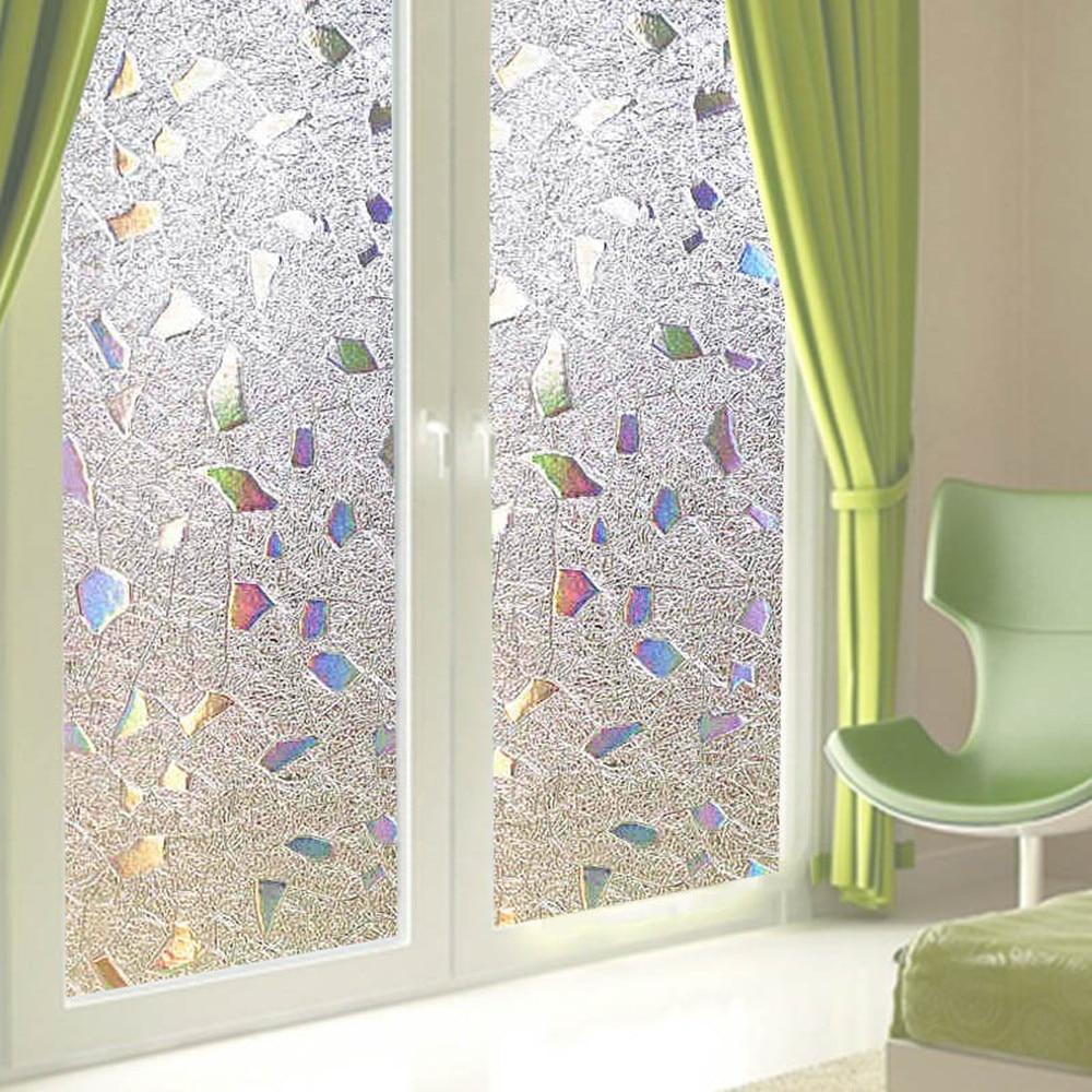 3d Pvc Opaque Privacy Static Sliding Door Window Sun