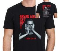 Bryan Adams Wstać Tour 2017 T shirt Men dwie strony bawełna casual prezent tee USA Rozmiar S-3XL