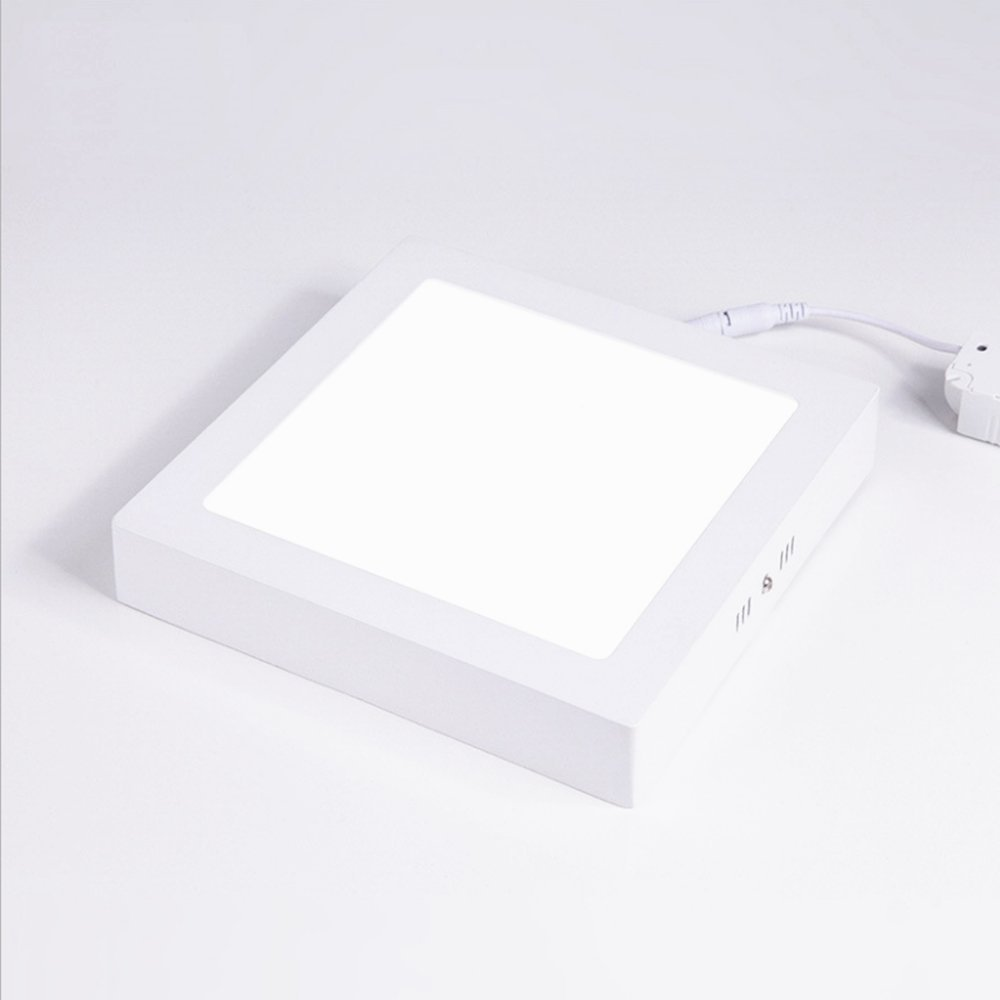 2pcs New Design 6w 12w 18w Dimmable Remote Control Adjustable Cct Frameless Square Indoor Lighting Led Panel Light Ceiling Lights & Fans