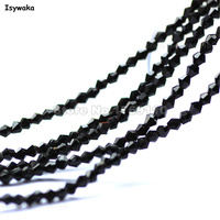 Isywaka Sale Black Color 1980pcs 2mm Bicone Austria Crystal Beads Glass Beads Loose Spacer Bead for DIY Jewelry Making