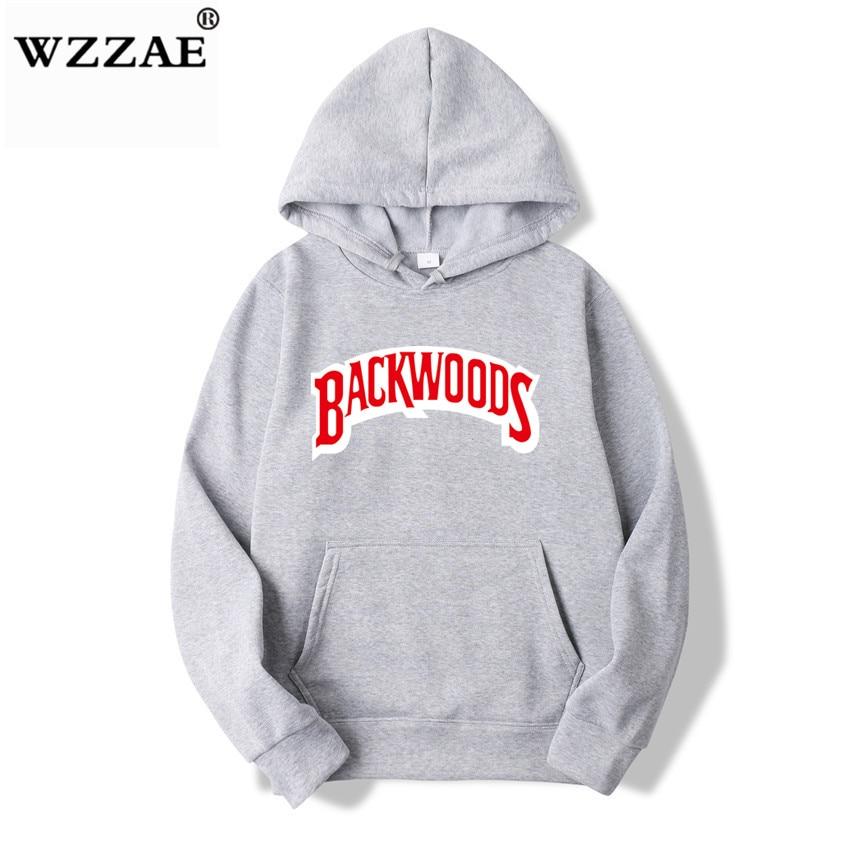 The screw thread cuff Hoodies Streetwear Backwoods Hoodie Sweatshirt Men Fashion autumn winter Hip Hop hoodie pullover Hoody 9
