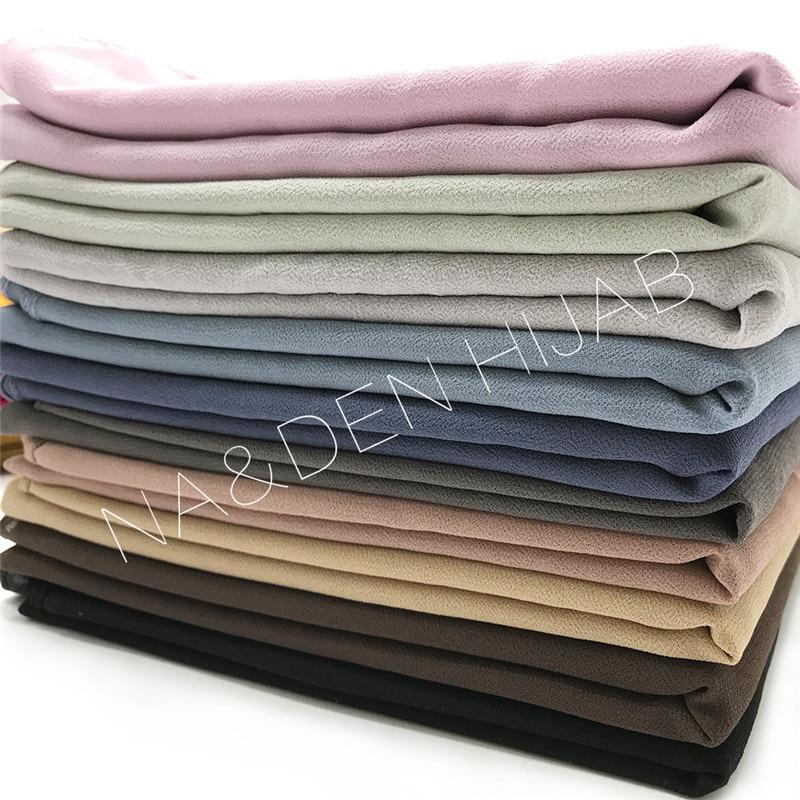 wholesale 400pcs one package 200pcs plain chiffon scarf 200pcs bubble plain scarf skin hijab