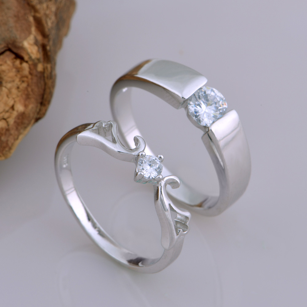 exquisite accessories female silver angel for item lover in couple male from romantic wing rings gift wedding diamond nice cz design jewelry