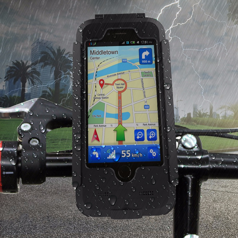 MTB Bike Bicycle GPS holder motorcycle support Phone holder for <font><b>iPhone</b></font> 7 6 6s Plus 5 5S SE GPS Holder waterproof phone bag
