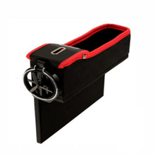 Car-styling Accessories Car Auto Seat Seam Storage Box Stowing Tidying Box Drivers Side Slit Organizer Gap Cup Holder