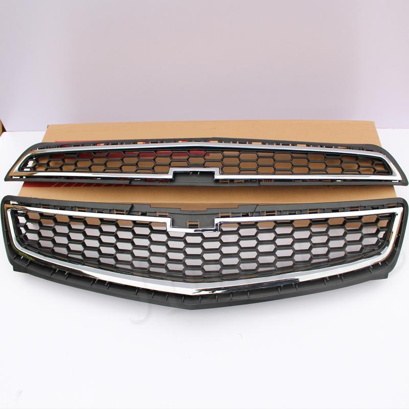 Aliexpress Com Buy Chrome Front Upper Grill Grille For: Chrome Front Bumper Mesh Upper Grill + Middle Grille For