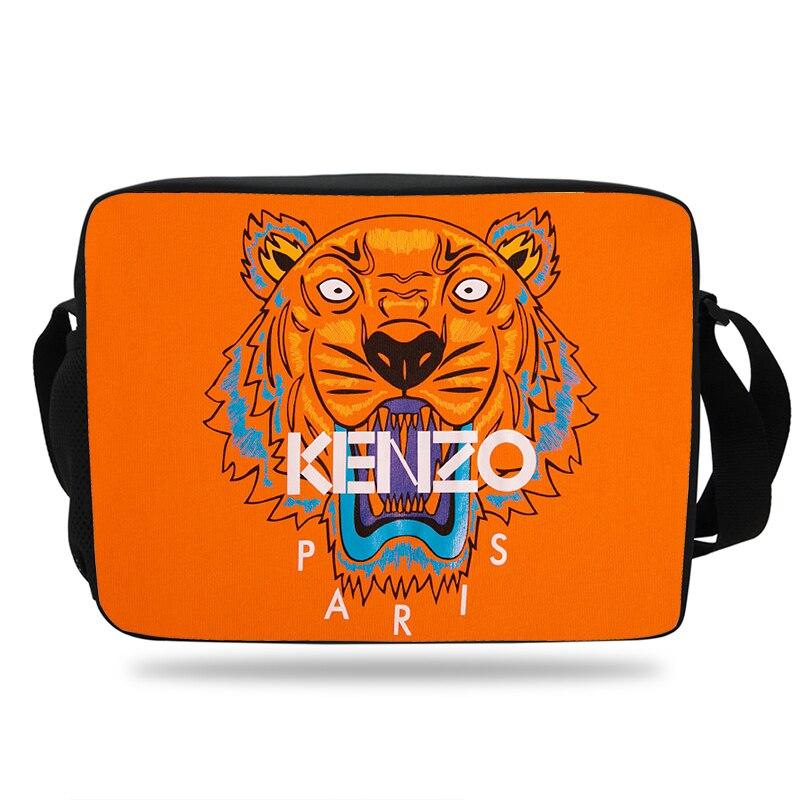 Новейшая модная сумка Kenz головы тигра Для женщин и Для мужчин сообщение сумка для школы для мальчиков и девочек Сумка Животные подростков ...